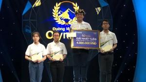 Niềm tự hào của quê hương Nam Trực: Học sinh Nguyễn Nhật Hoàng - Cựu học sinh trường THCS Nam Mỹ giành điểm cao nhất cuộc thi tuần một, tháng ba, quý IV Đường lên đỉnh OLYMPIA năm thứ 18